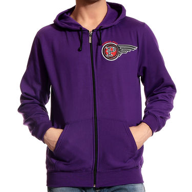 Brohood Blended Cotton Casual Sweatshirt For Men_SKH33010 - Purple