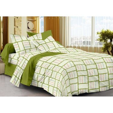 Storyathome 100% Cotton Single Bedsheet with 1 Pillow Cover-SP1209