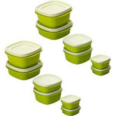 Cutting Edge Snap Tight Air Tight Storage Container Combo Set Of 12 Light Green