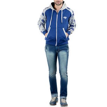 Blended Cotton Full Sleeves Sweatshirt_Swdl1 - Blue & Grey