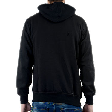 Blended Cotton Full Sleeves Sweatshirt_Swdl30 - Black