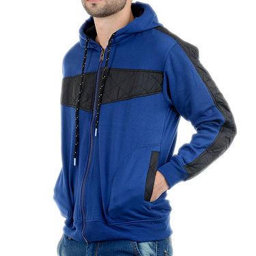 Blended Cotton Full Sleeves Sweatshirt_Swdl4 - Blue & Black