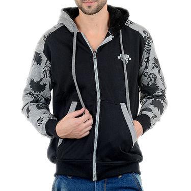 Blended Cotton Full Sleeves Sweatshirt_Swdl7 - Black & Grey