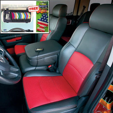 Samsun Car Seat Cover for Chevrolet Aveo U-VA - Red & Black