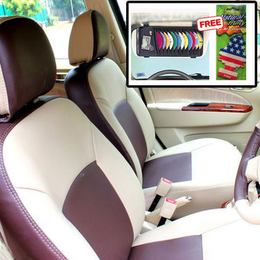 Samsun Car Seat Cover for Volkswagen Jetta  - Beige & Brown