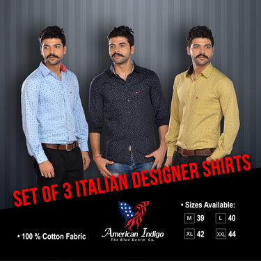 Set of 3 Italian Designer Shirts