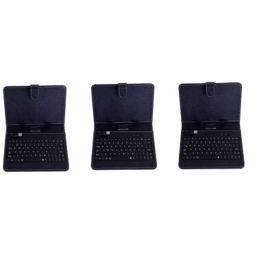 Vox Set of 3 Universal 7inch Tablet Leather Case with inbuilt Keyboard &�Stylus