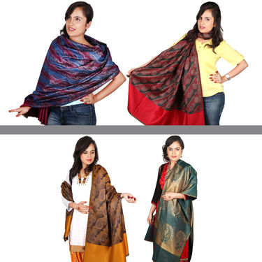 Set of 4 Women's Shawls