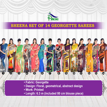 Sheena Set of 14 Georgette Sarees (14G2)