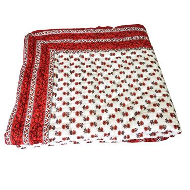 Shop Rajasthan Jaipuri Designer Printed Single Bed AC Quilt-Red & Maroon- SRM2079
