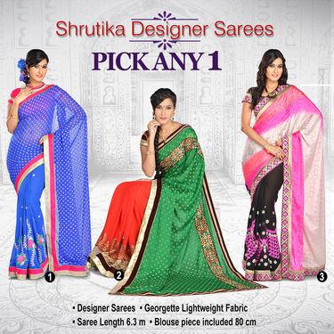 Shrutika Designer Saree - Pick Any 1