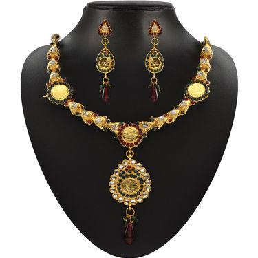 Shubhalaxmi 1 Gram Gold Plated 13 Jewellery Set
