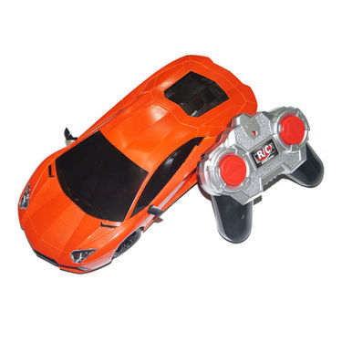 Adraxx Sports Car Model with Headlights 1:18 Scale - Orange