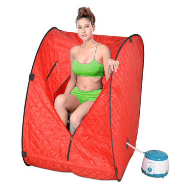 Kawachi Portable Steam Sauna Bath-Red