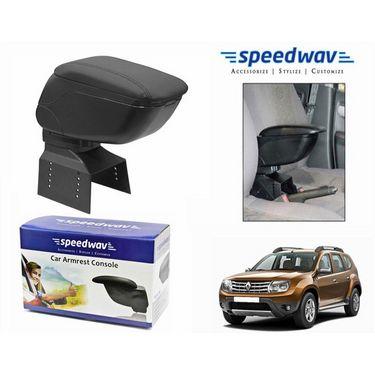 Speedwav Car Armrest Console Black Color- Renault Duster