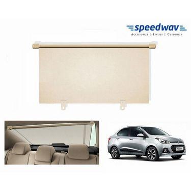 Speedwav Car Rear Window Roller Sunshade 90cm BEIGE- Hyundai Xcent