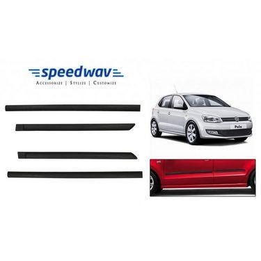 Speedwav Car Original Side Beading Matt BLACK - Volkswagen Polo