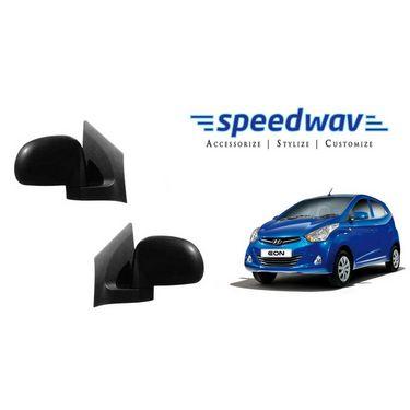 Speedwav Car Side Rear View Mirror Assembly SET OF 2 - Hyundai Eon
