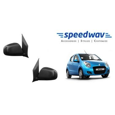 Speedwav Car Side Rear View Mirror Assembly SET OF 2 - Maruti A Star