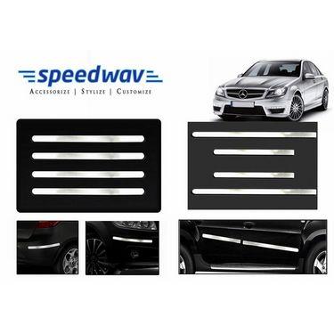 Speedwav Full Chrome Bumper Protector+Side beading-Mercedes Benz C200/220