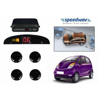 Speedwav Reverse Car Parking Sensor LED Display BLACK - Tata Nano