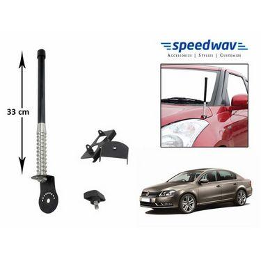 Speedwav Car Front/Rear Stylish VIP Antenna Black-Volkswagen Passat