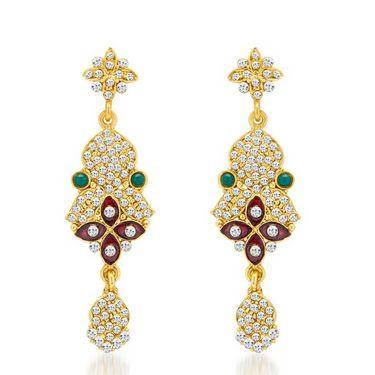 Sukkhi Gracefull Gold Plated Necklace Set - Golden - 2133NADV2900