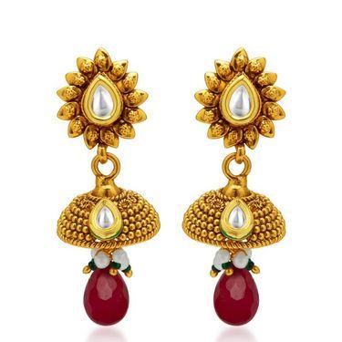 Sukkhi Appealing Antique Gold Plated Necklace Set - Golden - 2140NKDS2650