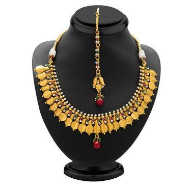Sukkhi Marvellous & Designer Gold Plated Necklace Set - Golden - 2151NGLDPL3550