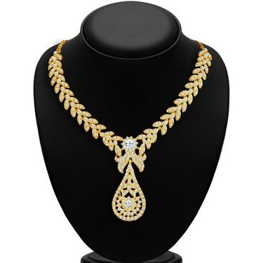 Sukkhi Stylish & Fine Gold Plated Necklace Set - Golden - 2166NADL1400