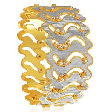 Sukkhi Elegant Gold and Rhodium Plated Kada - White & Golden - 157DKV3550