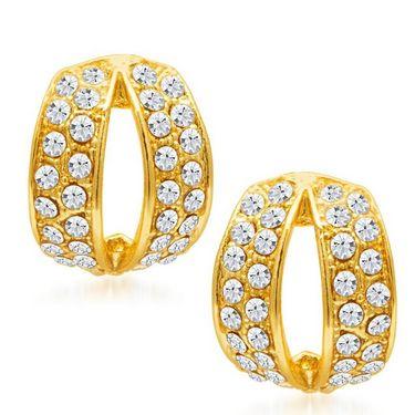 Sukkhi Divine Gold Plated Earrings - Golden - 6071EADM250