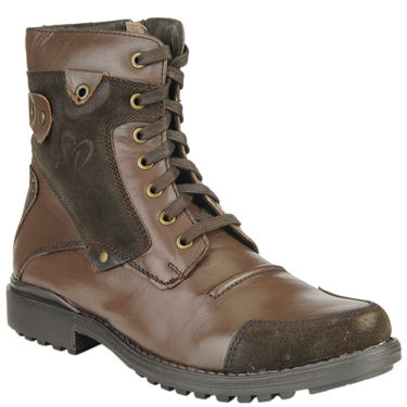 Delize Leather Boot T-001-Brown