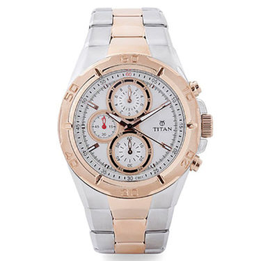 Titan Raga Stylish Watch For Men_T07 - White