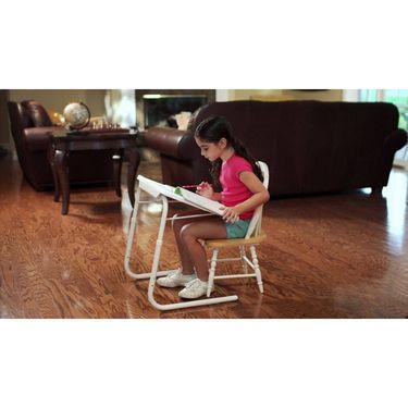 Shoper52 Designer Portable Adjustable Dinner Cum Laptop Tray Table-TABLE025