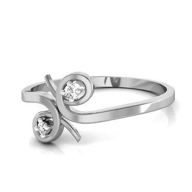 Avsar Real Gold & Swarovski Stone Mintra Ring_T032wb