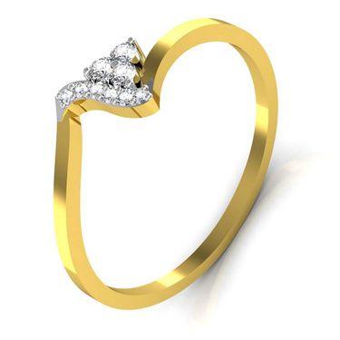 Avsar Real Gold & Swarovski Stone Priya Ring_T046yb