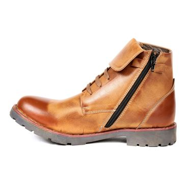 Faux Leather Tan Boots -T02