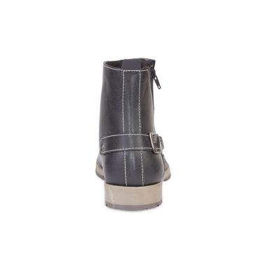 Faux Leather Black Boots -T08