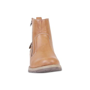 Faux Leather Tan Boots -T10