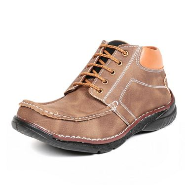 Faux Leather Tan Boots -T25
