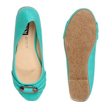 Synthetic Leather Turquoise Bellies -blbltfrj02
