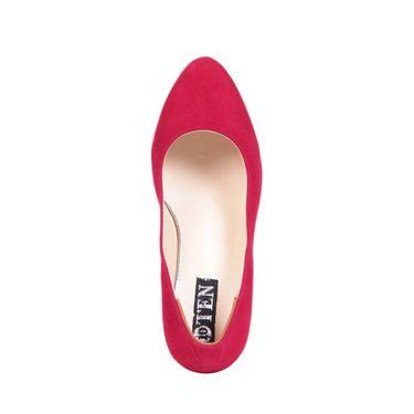 Ten Suede Red Pumps -ts73