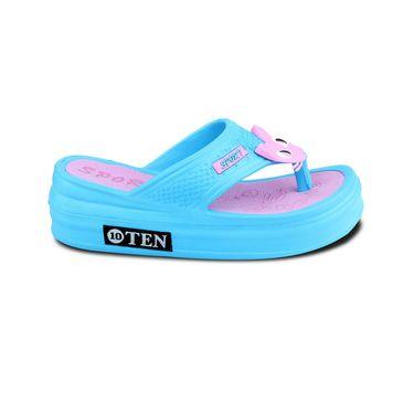 Ten PVC Blue  &  Pink Flip Flop -ts163
