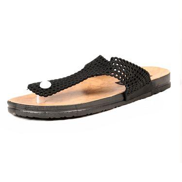 Ten PVC Black Womes Slippers -ts273