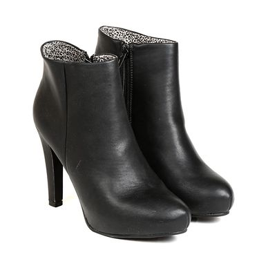 Ten Leather Black Womens Boot -ts297