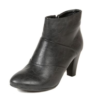 Leather Black Boots For Womens -tb7