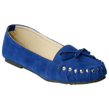 Ten Suede Blue Loafers -ts108