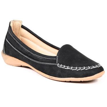 Ten Fabric Black Loafers -ts213