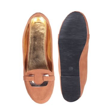 Ten Synthetic Leather Brown Loafers -ts133